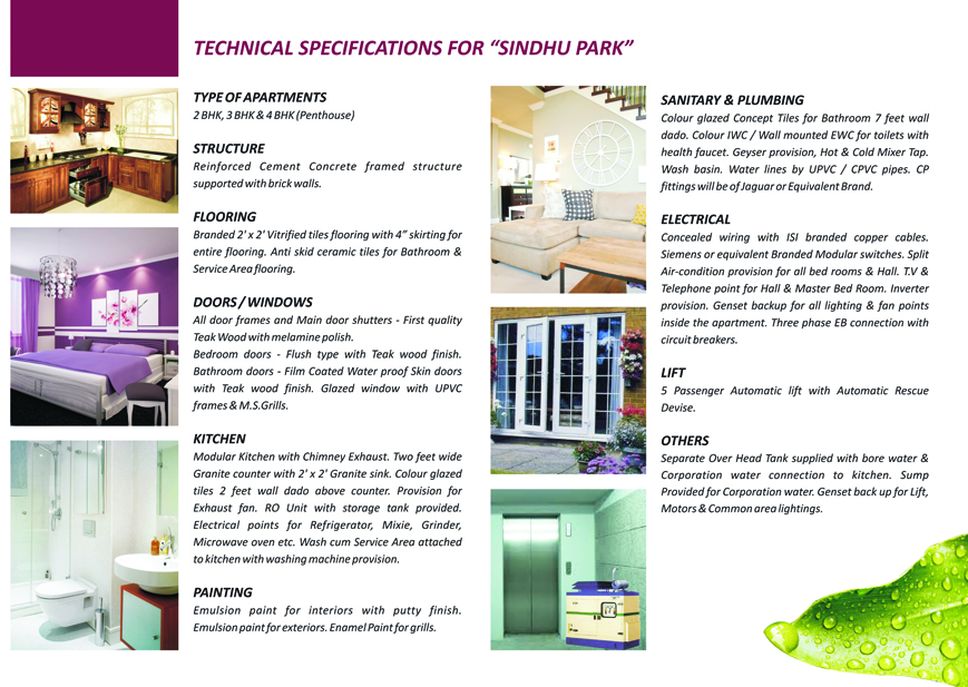 sindhu-specifications